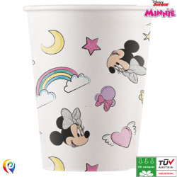 MINNIE MOUSE UNICORN DREAMS COMPOSTABLE PAPER CUPS 200ml (8CT X 6 PACKS)