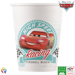 DISNEY CARS HIGH SPEED COMPOSTABLE PAPER CUPS 200ml (8CT X 6 PACKS)