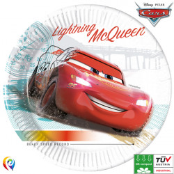 DISNEY CARS HIGH SPEED COMPOSTABLE PAPER PLATES 23cm (8CT X 6 PACKS)