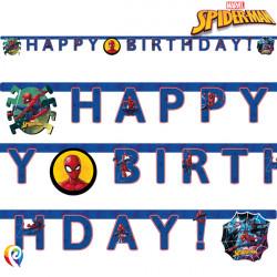 SPIDER-MAN TEAM UP BIRTHDAY BANNER (1CT X 6 PACKS)
