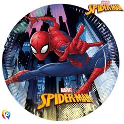 SPIDER-MAN TEAM UP PAPER PLATES MEDIUM 20cm (8CT X 6 PACKS)