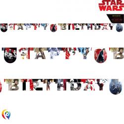 STAR WARS THE LAST JEDI BIRTHDAY BANNER (1CT X 6 PACKS)
