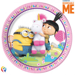 FLUFFY PAPER PLATES LARGE 23cm (8CT X 6 PACKS)