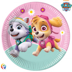 PAW PATROL SKYE & EVEREST PAPER PLATES LARGE 23cm (8CT X 6 PACKS)