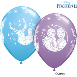 "FROZEN 2 11"" PALE BLUE & SPRING LILAC (25CT)"