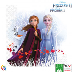 FROZEN 2 NAPKINS 3-PLY 33cm (20CT X 6 PACKS)