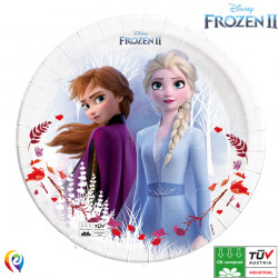 DISNEY FROZEN 2 COMPOSTABLE PAPER PLATES 23cm (8CT X 6 PACKS)