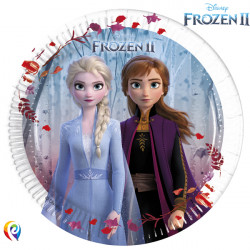 DISNEY FROZEN 2 PAPER PLATES MEDIUM 20cm (8CT X 6 PACKS)
