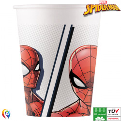SPIDER-MAN SUPER HERO COMPOSTABLE PAPER CUPS 200ml (8CT X 6 PACKS)