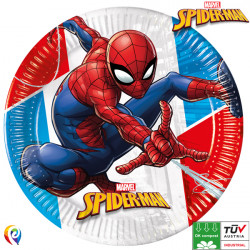 SPIDER-MAN SUPER HERO COMPOSTABLE PAPER PLATES 23cm (8CT X 6 PACKS)