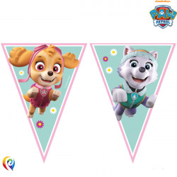 PAW PATROL SKYE & EVEREST TRIANGLE 9 FLAG BANNER (1CT X 6 PACKS)