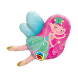 "FAIRY 14"" MINI SHAPE INFLATED WITH CUP & STICK"
