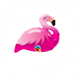 "PINK FLAMINGO 14"" MINI SHAPE FLAT"