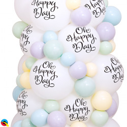 """SIMPLY OH HAPPY DAY TOP PRINT 11"""" WHITE (50CT)"""