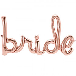 "BRIDE SCRIPT ROSE GOLD 40"" AIRFILLED SHAPE S1-01 PKT"