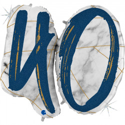"MARBLE MATE BLUE 40 40"" HOLO SHAPE D PKT"