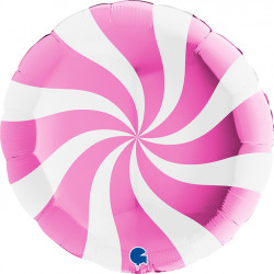 "SWIRLY WHITE - FUCHSIA 36"" PKT (ITEM WILL BE PLACED ON BACK ORDER AND SHIPPED WHEN AVAILABLE)"