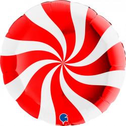 """SWIRLY WHITE - RED 36"""" PKT"""
