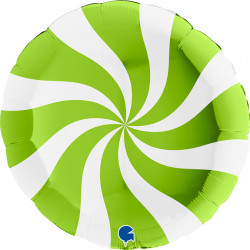 "SWIRLY WHITE - LIME GREEN 36"" PKT (ITEM WILL BE PLACED ON BACK ORDER AND SHIPPED WHEN AVAILABLE)"