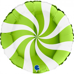 "SWIRLY WHITE - LIME GREEN 18"" PKT (ITEM WILL BE PLACED ON BACK ORDER AND SHIPPED WHEN AVAILABLE)"