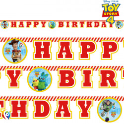 TOY STORY 4 BIRTHDAY BANNER (1CT X 6 PACKS)