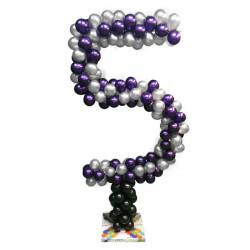 NUMBER 5 BALLOON FRAME INCLUDING BASE