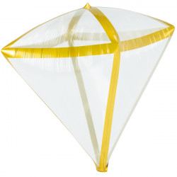 "GOLD TRIM CLEARZ DIAMONDZ G20 FLAT (15"" x 17"") (3CT)"