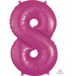 PINK NUMBER 8 SHAPE P50 PKT