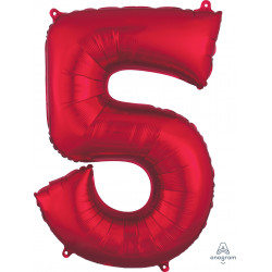 "RED NUMBER 5 SHAPE P50 PKT (23"" x 33"")"