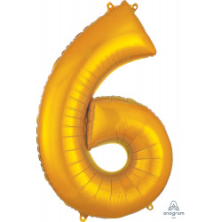 "GOLD NUMBER 6 SHAPE P50 PKT (22"" x 34"")"