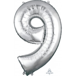 "SILVER NUMBER 9 SHAPE P50 PKT (22"" x 34"")"