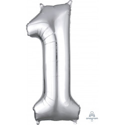 "SILVER NUMBER 1 SHAPE P50 PKT (13"" x 34"")"