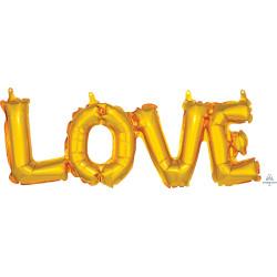 "LOVE GOLD BLOCK PHRASE SHAPE S55 PKT (25"" x 9"")"