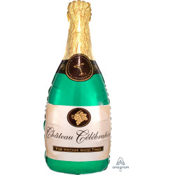 "CHAMPAGNE BOTTLE SHAPE P30 PKT (14"" x 36"")"