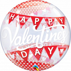 "BANNERS VALENTINE'S DAY 22"" SINGLE BUBBLE"