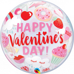 "EVERYTHING VALENTINES 22"" SINGLE BUBBLE"