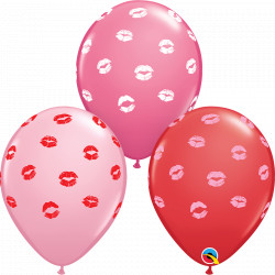 "KISSEY LIPS 11"" ROSE, RED & PINK (25CT)"