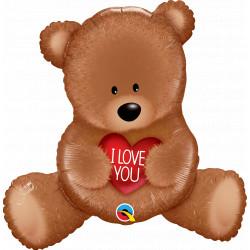 """TEDDY BEAR I LOVE YOU 35"""" SHAPE GROUP C PKT YZP"""