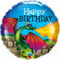 """DRAGON MYTHICAL BIRTHDAY 18"""" PKT"""