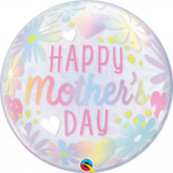 "FLORAL PASTEL MOTHER'S DAY 22"" SINGLE BUBBLE"