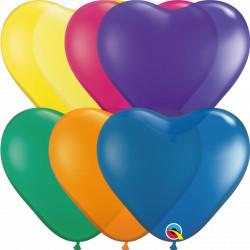 "JEWEL ASSORTMENT HEART 6"" (100CT)"