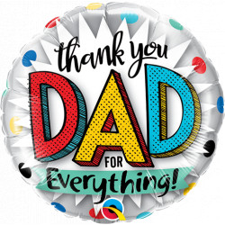 """THANK YOU DAD FOR EVERYTHING 9"""" INFLATED WITH CUP & STICK HI"""