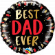 "BEST DAD EVER 18"" PKT IF"