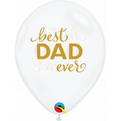 "SIMPLY BEST DAD EVER 11"" DIAMOND CLEAR (25CT)"