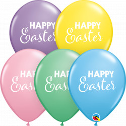 "SIMPLY HAPPY EASTER 11"" PASTEL ASSORTMENT (25CT)"