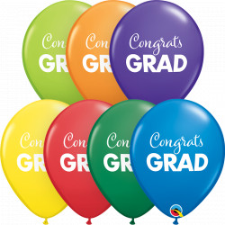 "SIMPLY CONGRATS GRAD 11"" CARNIVAL ASSORTMENT (25CT)"