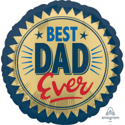 BEST DAD EVER GOLD STAMP STANDARD S40 PKT