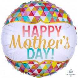 GEOMETRIC HAPPY MOTHER'S DAY STANDARD S40 PKT