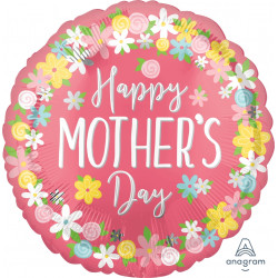 "FLORAL WREATH HAPPY MOTHER'S DAY JUMBO P32 PKT (28"" x 28"")"