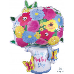 "PITCHER GARLAND MOTHER'S DAY MULTI-BALLOON P45 PKT (25"" x 34"")"